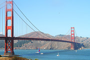 Structural Art Photos - The San Francisco Golden Gate Bridge by Wingsdomain Art and Photography