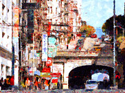 Tunnels Prints - The San Francisco Stockton Street Tunnel . 7D7355 Print by Wingsdomain Art and Photography