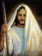 Standing Painting Posters - The Savior Poster by Greg Olsen
