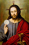 Christ Portrait Prints - The Savior Print by Juan de Juanes