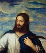 Jesus Christ Paintings - The Savior by Titian