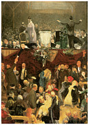 Fine American Art Posters - The Sawdust Trail Poster by George Bellows
