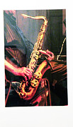 Robert Daniels Art - The Sax Player by Robert Daniels