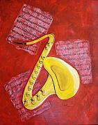 Saxaphone Prints - The Sax Print by Richard Roselli