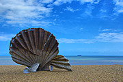 Maggi Hambling Prints - The Scallop. Aldeburgh Beach Print by Chris Thaxter