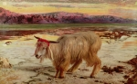 1854 Paintings - The Scapegoat by William Holman Hunt