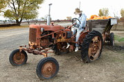 Brentwood Photos - The Scarecrow Riding On The Old Farm Tractor . 7D10299 by Wingsdomain Art and Photography