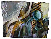 The Scarf The Glass And Caraffe Print by Piotr Antonow