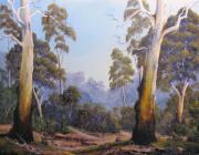 Landscape Reliefs Metal Prints - The Scent Of Australian Gumtrees Metal Print by John Cocoris