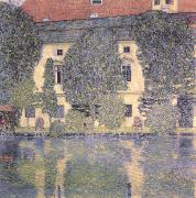 Gustav Klimt Canvas Paintings - The Schloss Kammer on the Attersee III by Gustav Klimt