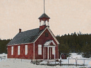 The School House Painterly Print by Ernie Echols