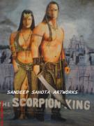 Orlando Bloom Photos - The Scorpion King by Sandeep Kumar Sahota