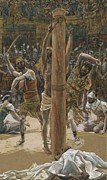 New Testament Paintings - The Scourging on the Back by Tissot