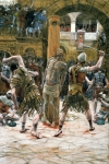 Gouache Metal Prints - The Scourging Metal Print by Tissot