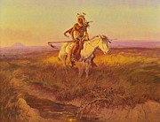 Great Plains Painting Posters - The Scout Poster by Pg Reproductions