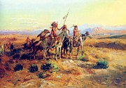 Charles M Russell - The Scouts