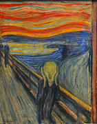 Origional Prints - The Scream by Edvard Munch Print by Edvard Munch