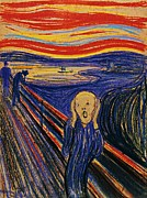 Edvard Munch Posters - The Scream by Edvard Munch  Poster by Pg Reproductions