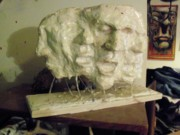 Plaster Sculpture Sculptures - The Scream by John Baker