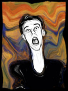 Distortion Digital Art Prints - The Scream Print by Russell Pierce