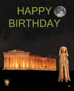 Parthenon - The Scream World Tour Athens Happy Birthday by Eric Kempson