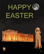 Parthenon - The Scream World Tour Athens Happy Easter by Eric Kempson