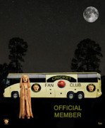 Ball Fields Posters - The Scream World Tour Cricket  tour bus Poster by Eric Kempson