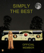 Batsman Posters - The Scream World Tour Cricket  tour bus Simply The Best Poster by Eric Kempson