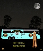 Rugby Union Posters - The Scream World Tour Football tour bus Poster by Eric Kempson