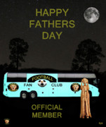 Football Mixed Media - The Scream World Tour Football tour bus Fathers Day by Eric Kempson