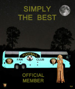 Football Mixed Media - The Scream World Tour Football tour bus simply the best by Eric Kempson