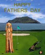 Pga European Tour Prints - The Scream World Tour Golf  Happy Fathers Day Print by Eric Kempson