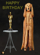 Pavilion Mixed Media Posters - The Scream World Tour Oscars Happy Birthday Poster by Eric Kempson