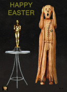 Best Of Red Carpet Prints - The Scream World Tour Oscars Happy Easter Print by Eric Kempson