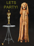 Best Of Red Carpet Prints - The Scream World Tour Oscars Lets Party Print by Eric Kempson
