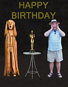 Biltmore Mixed Media - The Scream World Tour Oscars with Peter Beddoes birthday by Eric Kempson