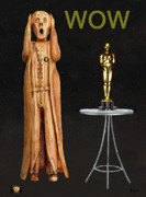 Pavilion Mixed Media Posters - The Scream World Tour Oscars Wow Poster by Eric Kempson