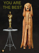 Pavilion Mixed Media Posters - The Scream World Tour Oscars You Are The Best Poster by Eric Kempson