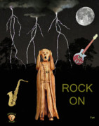Edvard Munch Mixed Media Posters - The Scream World Tour  Scream Rocks Rock on Poster by Eric Kempson