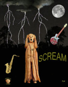 The Scream Mixed Media Prints - The Scream World Tour  Scream Rocks Scream Print by Eric Kempson
