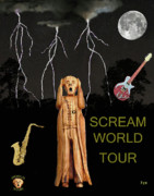 The Scream Mixed Media Prints - The Scream World Tour  Scream Rocks world tour Print by Eric Kempson