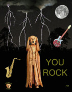 The Scream Mixed Media Prints - The Scream World Tour  Scream Rocks You Rock  Print by Eric Kempson