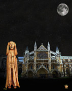 Buckingham Palace Mixed Media - The Scream World Tour Westminster Abbey by Eric Kempson