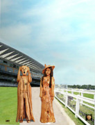Jockey Mixed Media - The Scream World Tour with Fashion Ascot Races by Eric Kempson