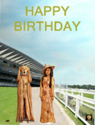 Royal Ladies Posters - The Scream World Tour with Fashion Ascot Races Happy Birthday Poster by Eric Kempson