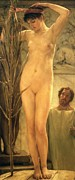 Unclothed Paintings - The Sculptors Model by Sir Lawrence Alma-Tadema
