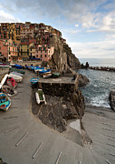 Manarola Posters - The Sea Awaits Poster by Mike Reid