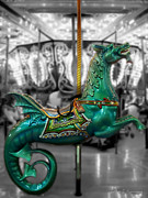 Amusement Parks Posters - The Sea Dragon Poster by Colleen Kammerer