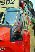 Component Metal Prints - The Sea King Helicopter Used Metal Print by Luc De Jaeger