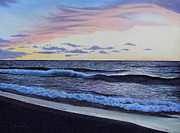Sunset Seascape Prints - The Sea Was Angry That Day My Friends... Print by Dan Lockaby